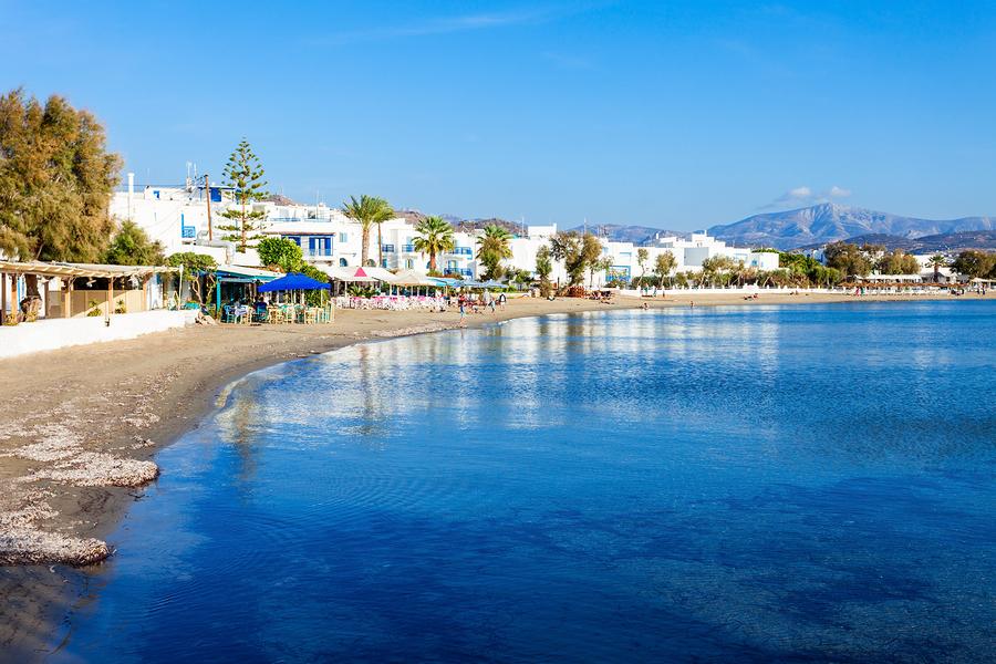 Naxos City Beach agia georgios - Naxos bästa stränder