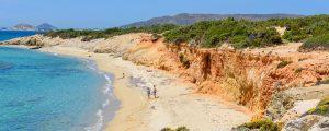 naxos strander panorama 300x120 - Naxos, Greece - May 24, 2017: Tourists Sunbathing On Aliko Beach, One Of The Best Beaches On The Sou
